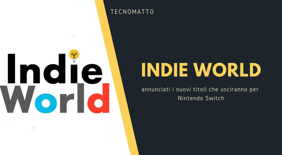 Indie World: l'evento di giochi Indie per Nintendo Switch